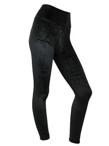 Womens Leggings Ladies High Waist Velvet Leggins Plush Evening Velvety