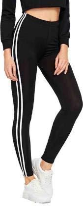 New Fashion Forever Stylish & Trendy Cotton Spandex High Waist Ankle Length Jeggings for Women/Girl Black