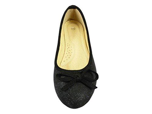 Chaussmaro da donna Ballet Flats Black