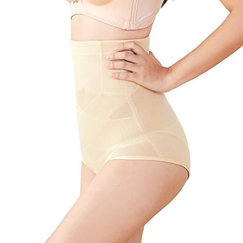 Biddtle Damen Miederslip Figurenformend Miederhose Push-Up Taillenslip Sexy Fitness Shapwear Mit Bauch-Weg-Effekt,Beige,XL - 4