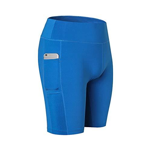 SANFASHION Frauen Side Pocket Stitching Fixed Stretch Enge Fitness Running Yoga Hose