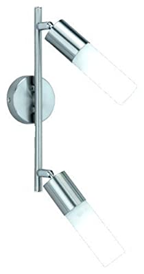 Trio-Leuchten 871710207 Energiespar-Balken inkl: 2xE14 9W 2U ESL L: 28cm Höhe: 14cm Nickel mit GL: opal matt weiß von Trio Leuchten - Lampenhans.de