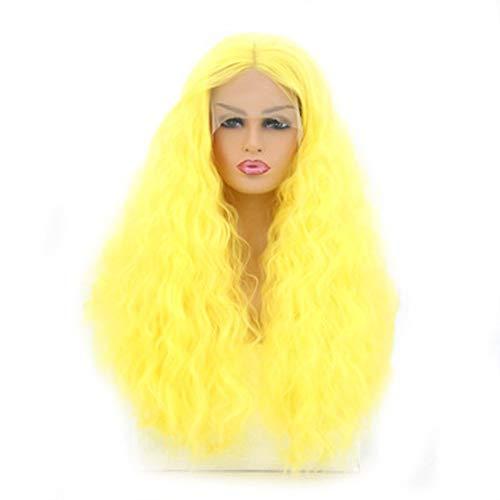 Peluca amarilla larga de melena rizada