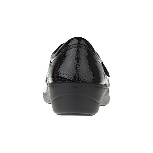 tessamino Damen Orthopädie Halbschuh aus Leder, mit Klettverschluss, Weite H, für Einlagen Grau