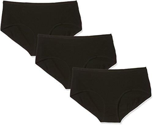 Pompea cotton, slip donna, nero (nero 0071), 54 (taglia produttore:8)(pacco da 3)