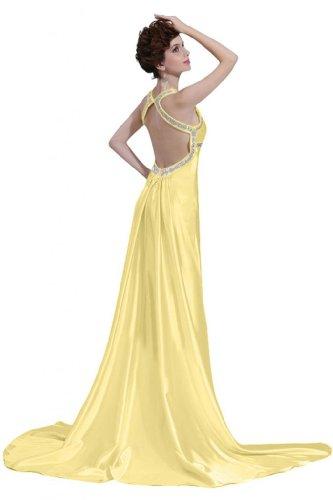 Sunvary una linea Sweetheart retro aperto Eyekepper-Vestito lungo da sera Daffodil