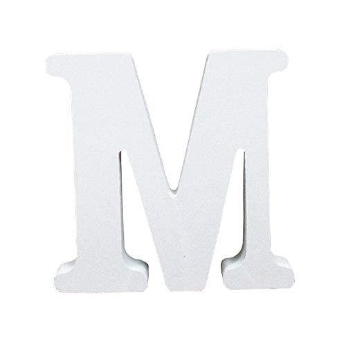 Holzbuchstabe Buchstabe, Toifucos A-Z DIY Englisch Alphabet Holz Buchstaben Handwerk Ornamente für Zuhause Hochzeit Geburtstagsfeier Dekoration Zubehör, Weiß 1 pcs M