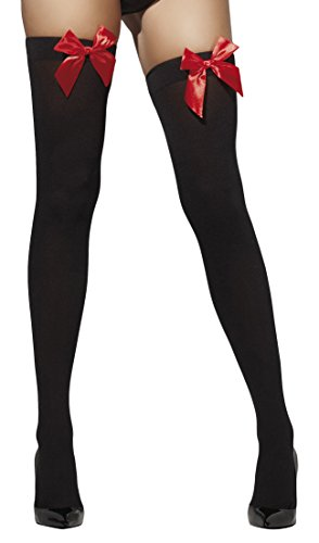 fever-womens-opaque-hold-ups-with-bows-black-with-red-bows-one-size5020570427576