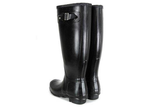 Hunter Original Kids Gloss, Bottes de pluie fille Noir - noir