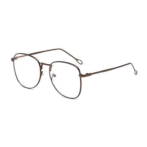 ZCF Net rot mit dem Augenrahmen weibliche Anti-Blaue Strahlung Brille Männer flachen Spiegel koreanische Version der Flut Sonnenbrille (Farbe : Bronze Frame)