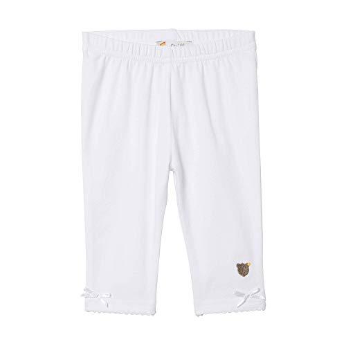 Steiff Baby - Mädchen Leggings L001914413, Gr. 56, Weiß (Bright White 1000)