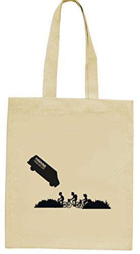 Mystery Serie Jutebeutel Stoffbeutel mit ST- Hawkins Van Motiv von ShirtStreet Natur