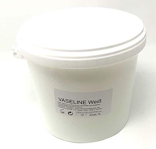 5Liter technische VASELINE Schmiermittel Korrosionsschutz Universalfett - INKgrafiX® Deutschland 5000ml - IG06387 Weiß - Sanitär KFZ