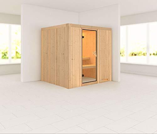 Karibu Sauna Sodin 196x170 cm, Elementsauna ohne Saunaofen