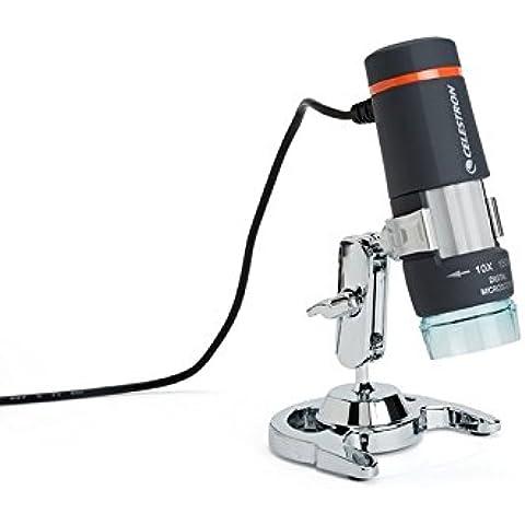 Celestron Handheld Digital Microscope - Microscopio (2 MP, USB 2.0, PC & MAC, Negro, Gris, Naranja, 113 g, 108 mm) , color: Black,Grey,Orange