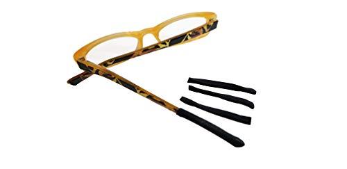 TEMPLESOX X TRANSFORM YOUR EYEWEAR Weiche Bügel-Brillen, rutschfest, für Kinder und Erwachsene, 2 Stück - schwarz - Einheitsgröße
