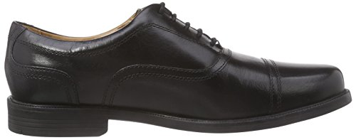 Clarks Beeston Cap Herren Brogue Schnürhalbschuhe Schwarz (Black Leather)