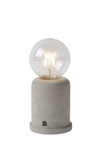 Lucide MABLE - Tischlampe - Ø 10 cm - Taupe