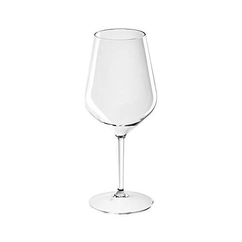 Sovie Servingware   Mehrweg Weinglas aus Tritan 470ml Transparent   Wasserglas Glas Becher   1 Stück