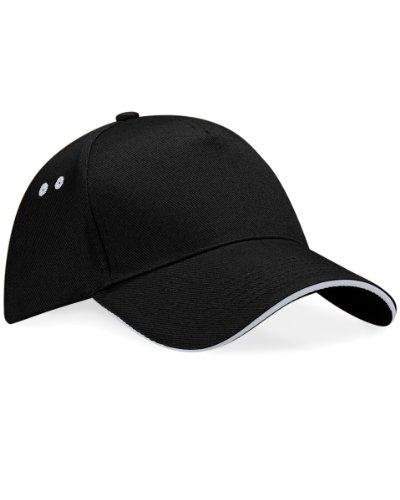 Beechfield - Casquette 100% coton - Unisexe, Black/Light Grey, Taille Unique