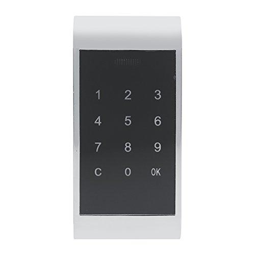 Keyless Touch-Schloss, Tastatursperre, elektronisch, für Sicherheitsschrank, Zinklegierung, für Büro oder Zuhause, mit Zubehör, 11,5°x°5,35°cm silberfarben