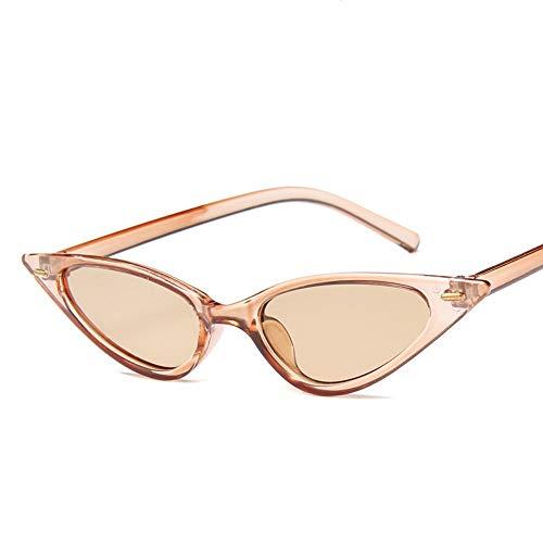 MINGMOU Frauen Sexy Cat Eye Sonnenbrille Markendesigner Kleines Dreieck Vintage Sonnenbrille Retro Cateye Brillen Lila Schwarz Sonnenbrille, 6