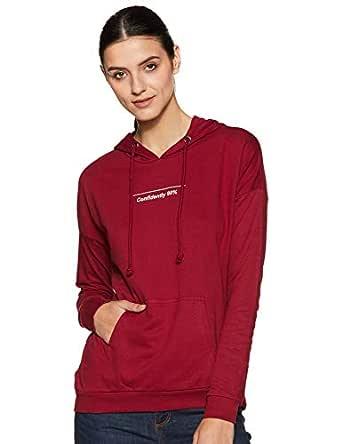ABOF Women's Cotton Sweatshirt (BOA19AWWWSS3010034_Wine_Large)