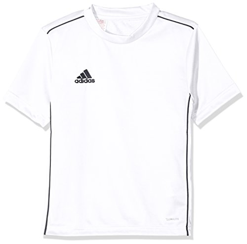 adidas Kinder CORE18 Y Jersey, White/Black, 7-8 Years