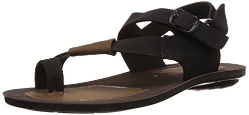 Provogue Men's Black Sandals and Floaters - 10 UK  available at amazon for Rs.499