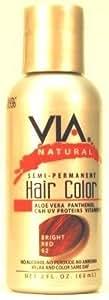 Via Natural Semi-Perm 60 ml Color #62 Bright Red (Case of 6) (Haarfarbe)