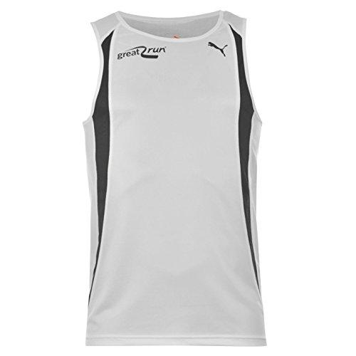 Puma Herren Great Run Vest Ärmellos Dry Cell-Technologie Running Jogging Jacke Weiß - Weiß