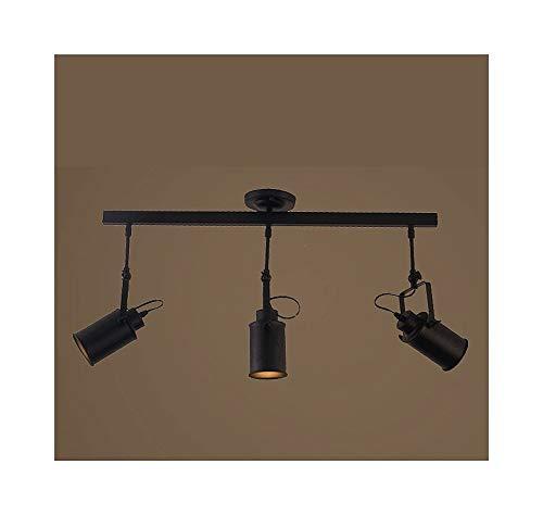 LED Deckenleuchte Drehbarer Scheinwerfer, Vintage Loft Deckenleuchte Kreative Loft Track Lampe Tuch Shop Coffee Bar Licht Kleidung TV Bar Hintergrund Lampe 5W -