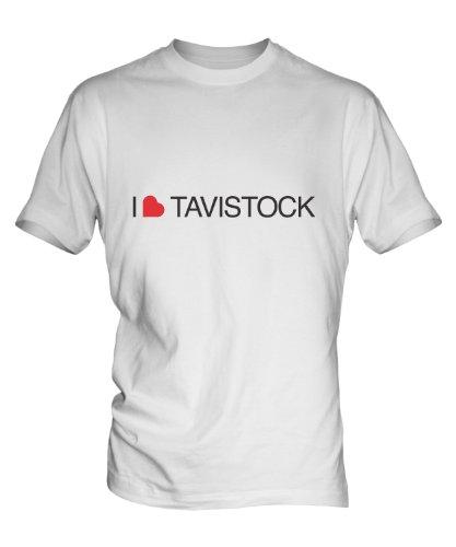 I Love Tavistock Mens White T-Shirt Top