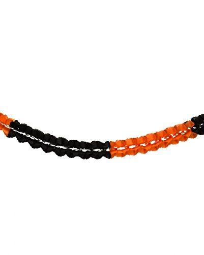 Schwarz-orange Waben-Girlande für Halloween & Karneval | 4m