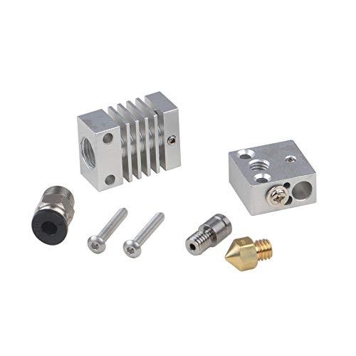 Vpqtettuecu 4.1mm V6 Through Silber Allmetall J-Head Hotend Remote-Extruder Set for 3D-Drucker 3D-Drucker-Teile Zubehör -