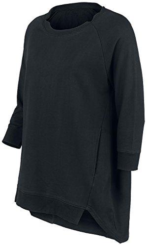 Forplay Three-Quarter Sleeve Shirt Girl-Sweat-Shirt schwarz Schwarz