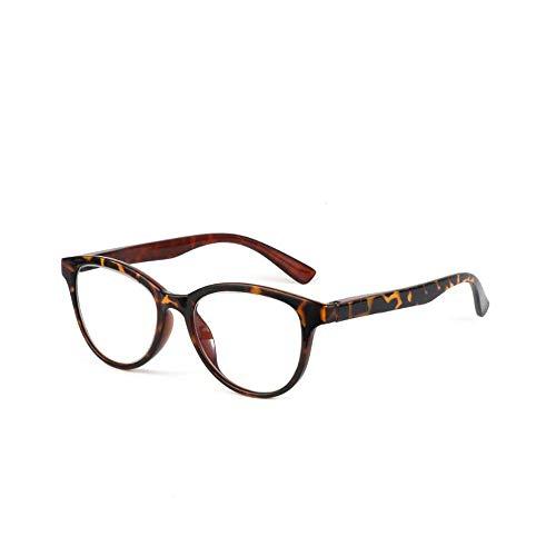 Photochrome Lesebrille Optische Presbyopie Gläser Sonnenbrille Zweifarbige Intelligente Farbwechselbrille Anti-UV(Leopard,+3.5)