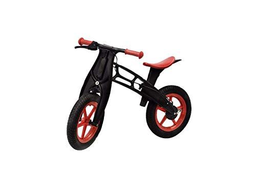 Casco da Mountain Bike Bicicletta per Bambini 2-6 Anni Senza Pedale Bicicletta Bambino Baby Slide Car Bambino Mountain Bike + Casco + Ginocchiere,Nero,84X37X55Cm