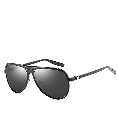 WULE-RYP Polarisierte Sonnenbrille mit UV-Schutz Polarisierte Sonnenbrillen für Männer, die Angeln am Strand Sonnenbrillen Fahren. Superleichtes Rahmen-Fischen, das Golf fährt (Farbe : Black/Grey)