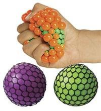 Neon Mesh Squishy Ball (Assorted Colors) pack of 1 by Rhode Island Novelty