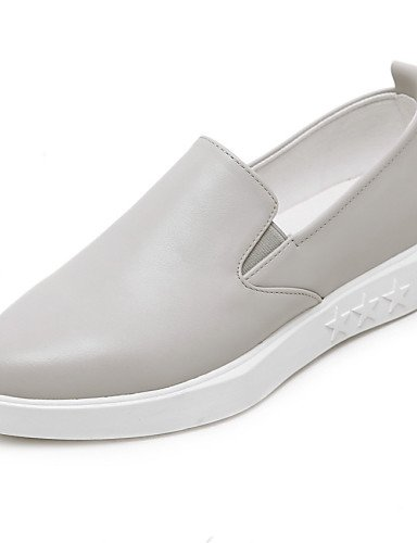 ZQ gyht Scarpe Donna-Ballerine-Casual-Chiusa-Piatto-Di pelle-Grigio , gray-us6.5-7 / eu37 / uk4.5-5 / cn37 , gray-us6.5-7 / eu37 / uk4.5-5 / cn37 gray-us5.5 / eu36 / uk3.5 / cn35