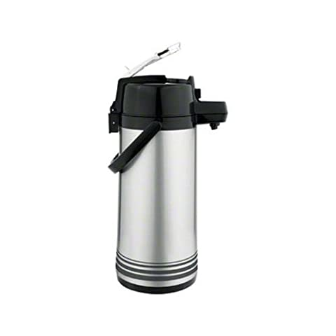 Update International NLD-22-BK-SF 2.2 Liter Airpot Glass Lined with Lever Top - Brushed Stainless