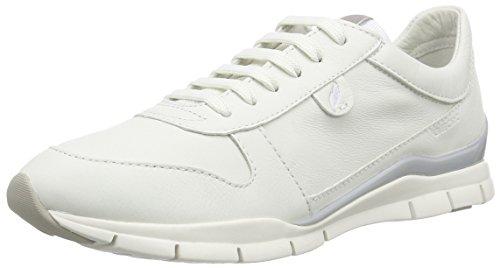 Geox - D Sukie A, Scarpe da ginnastica Donna Bianco (Weiß (WHITEC1000))
