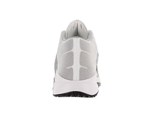Nike Herren Zoom Ascention Basketballschuhe, Schwarz, M Weiß (Weiß / Schwarz-Wolf Grey-Stealth)