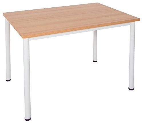 Schreibtisch / Besprechungstisch in verschiedenen Größen und Farben weißes Metallgestell...