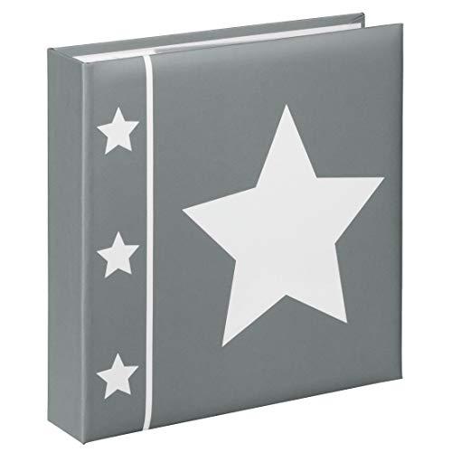 Hama 2337 album memo, 10 x 15 cm, 100 pagine, 200 foto, grigio