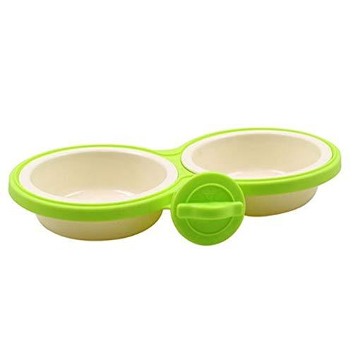 Fashion Pet Dog Feeders Einfache Reinigung Hundekäfig Suspension Bowl Für Kleine Und Mittlere Hund Heimtierbedarf (Gelb, Blau, Kaffee, Grün),Green -