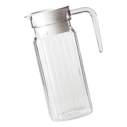Baoblaze Acryl Wasser Krug Saft Kanne Getränke Kanne für Wasser, Limonade, Früchte, Cocktail, Tee, Säfte und Eiswürfel - Gestreifter Wasserkocher 800ml -