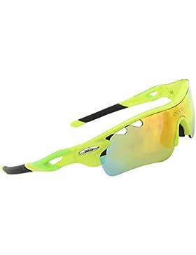 Duco Jerricane Occhiali da sole sportivi, polarizzati, per ciclismo, occhiali intercambiabili con 50025