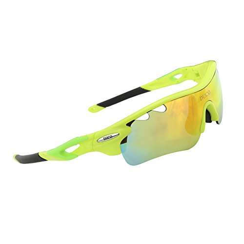 Gafas de sol polarizadas para bicicleta (0025) de Duco, verde